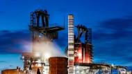 Hochöfen des börsennotierten Stahlkonzerns Thyssen-Krupp