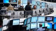 Handelsraum an der Frankfurter Börse