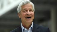 Ist bestens aufgelegt: JP Morgan-Chef Jamie Dimon