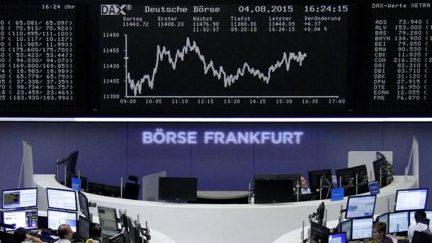 Europas Bankaktien unter Druck - Dax leicht im Plus
