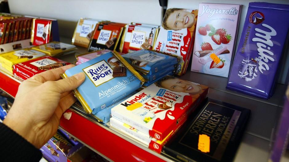 Süßigkeiten unterschiedlichster Marken
