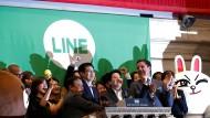 Der Börsengang von Line war erfolgreich.