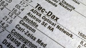 Der Tec-Dax bleibt auf Klettertour