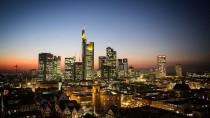 Blick auf eine Bankenmetropole: Die Skyline von Frankfurt am Main