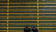 Geld, bestehend nur aus Daten: In diesem Rechner im kanadischen Saint Hyacinthe werden der bekannte Bitcoin erzeugt.
