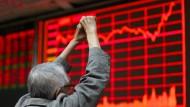 Freude an der Börse in Peking: Der Leitzins Shanghai Composite steigt an.