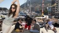 Wohl im Lotto gewonnen? Party auf einer Yacht in Monte Carlo am Wochenende des Formel-1-Rennens