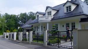 Teure Gegend: Das Villenviertel von Grünwald südlich von München