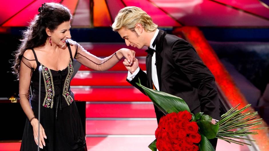 Was wohl die italienische Opernsängerin Lucia Aliberti über das blumige Kompliment von Florian Silbereisen dachte?