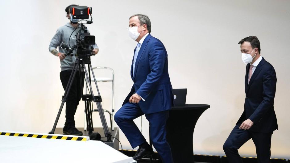 Armin Laschet und CDU-Generalsekretär Paul Ziemiak am Montag in Berlin