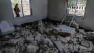 Trümmer am 10. Juni in Ibelin nach einem Luftangriff des syrischen Regimes