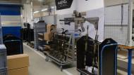 Waffen für Polizei und Militär in der Werkshalle in Suhl
