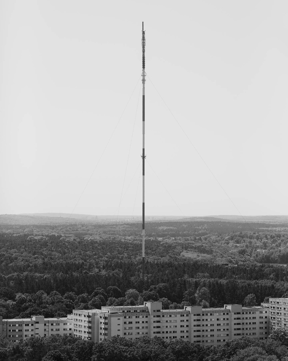 Antennenmast in Berlin.