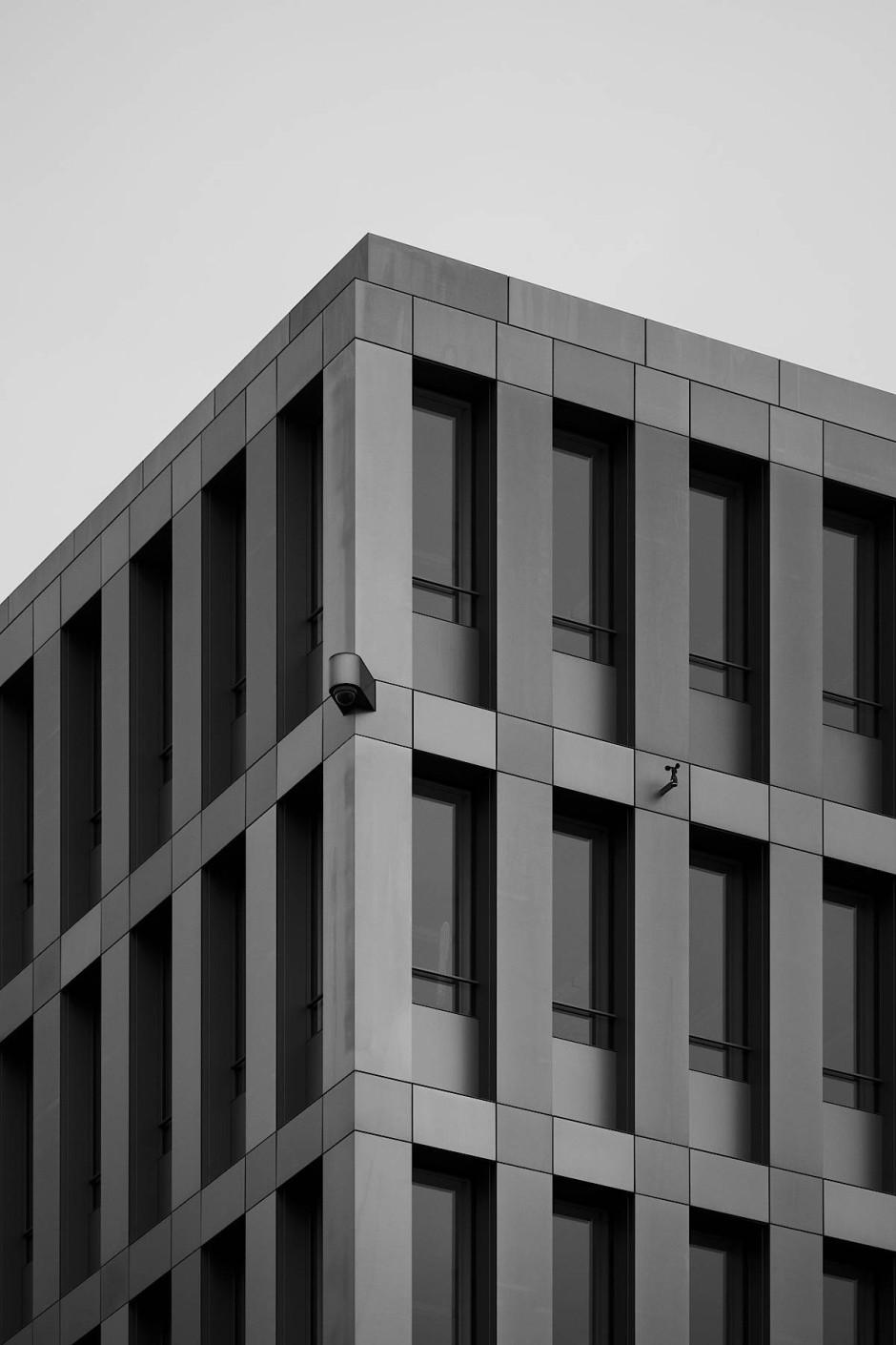 Fassade des neuen BND-Gebäudes in Berlin. Hier wird überwacht.