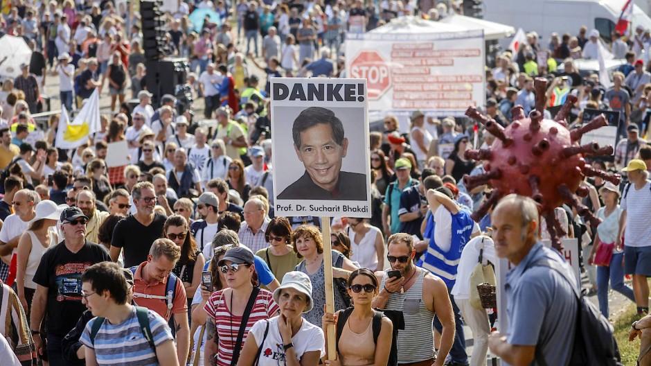 Demonstration gegen die Corona-Maßnahmen in Düsseldorf (September 2020)