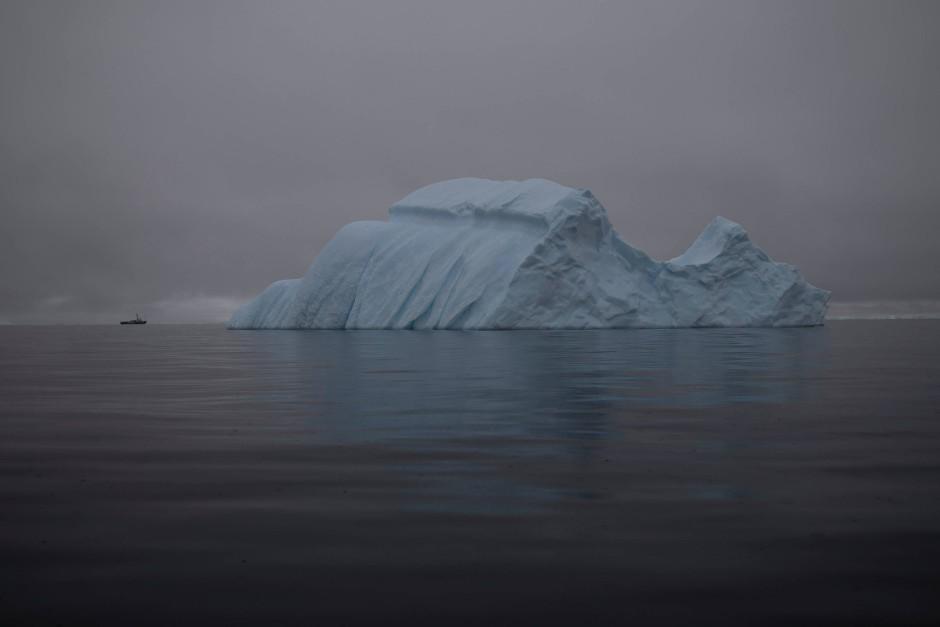 Mächtige Eisberge vor Two Hummocks Island.