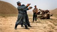 Afghanische Polizei im Jahr 2008 während einer Übung in Kundus