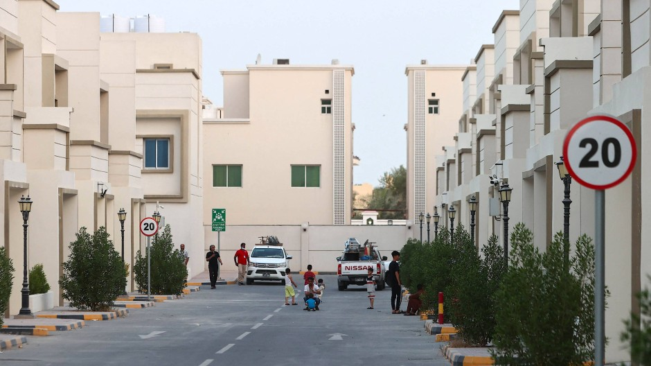 Ein Wohnkomplex für Afghanen in Doha