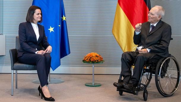 Tichanowskaja fordert mehr Engagement von Deutschland
