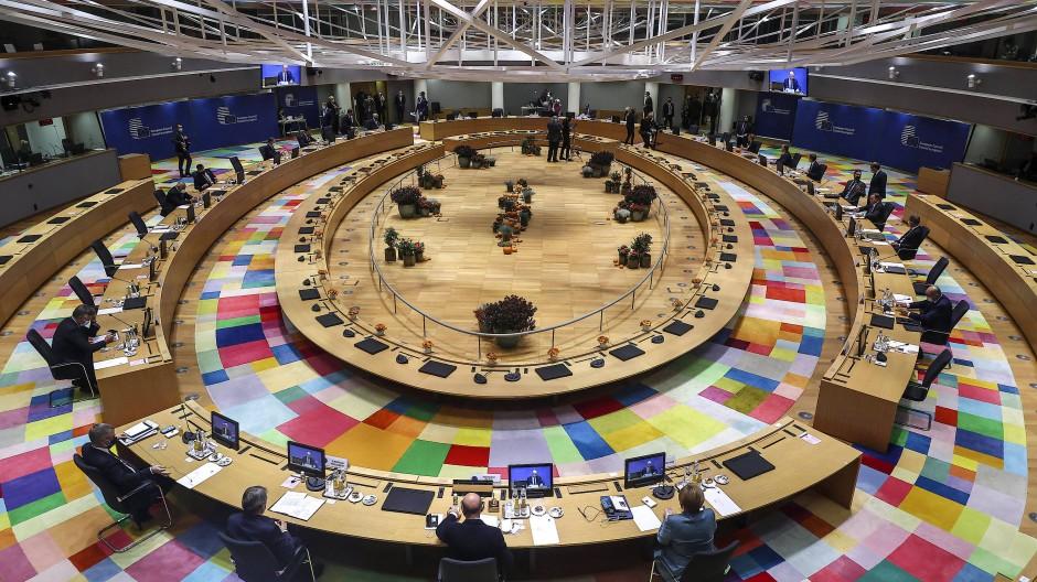 Das Treffen der Staats- und Regierungschefs der EU in Brüssel Mitte Oktober