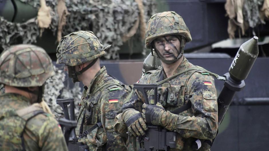 Bundeswehrsoldaten bei einem NATO-Einsatz in Litauen 2017