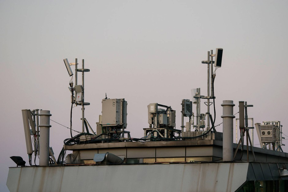 Verschiedene Antennen in der südkoreanischen Hauptstadt Seoul.