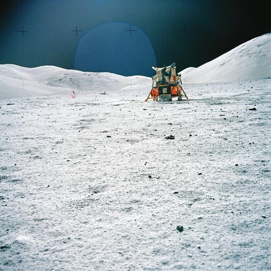 Das Landemodul von Apollo 17: Im Dezember 1972 war der elfte bemannte und bislang letzte Auftritt eines Menschen auf dem Mond.