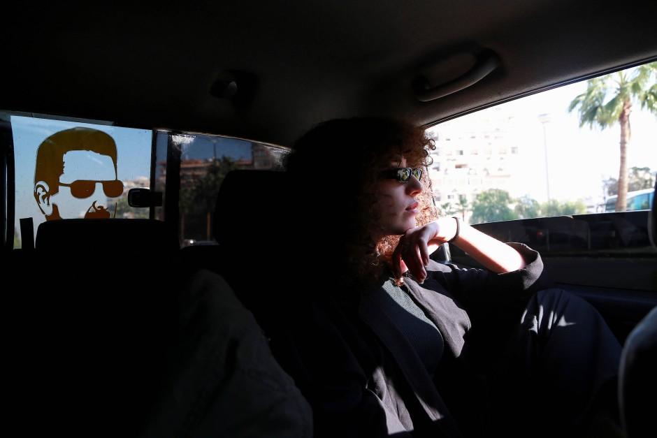 Baschar al-Assad als Beifahrer. Ghenwa im Auto eines Freundes.