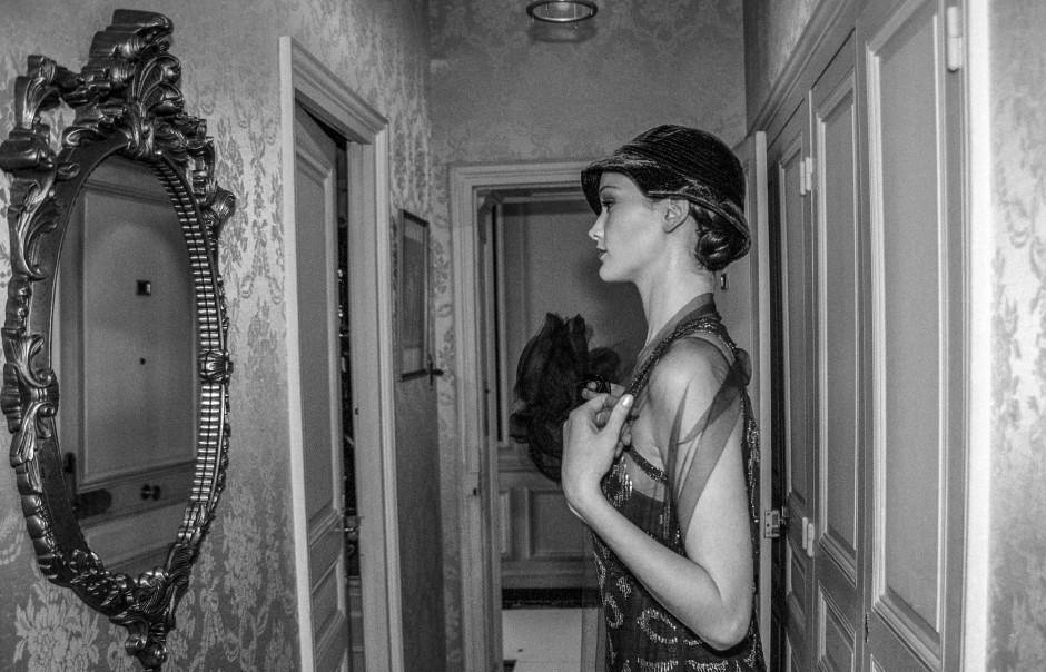 Das Kleid sitzt: Chanel-Modenschau in einer Suite des Hotel Ritz in Paris 1996