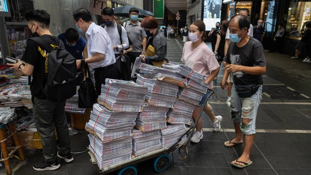 Wie die Pressefreiheit in Hongkong stirbt