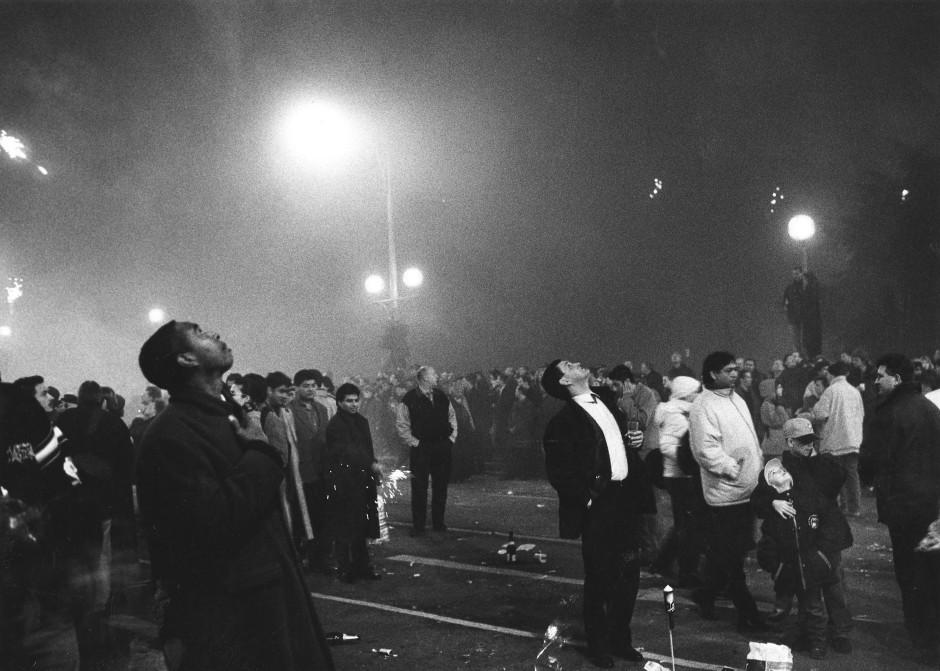 Dieses Jahr gabs nix zu sehen. 2000 war mehr Feuerwerk.