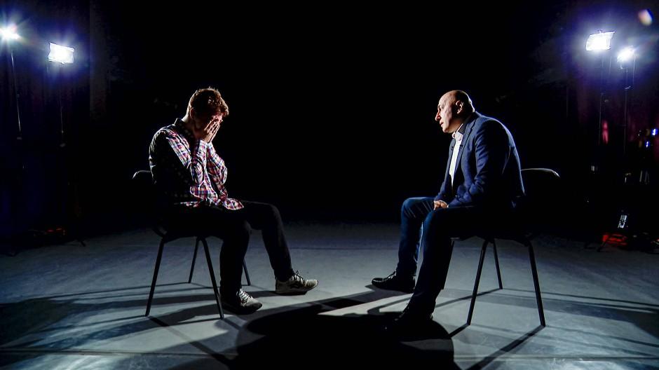 Videostandbild des Interviews im belarussischen Fernsehen mit Roman Protassewitsch