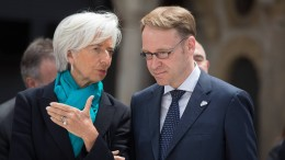 EZB-Chefin Lagarde bedauert Weidmanns Rücktritt