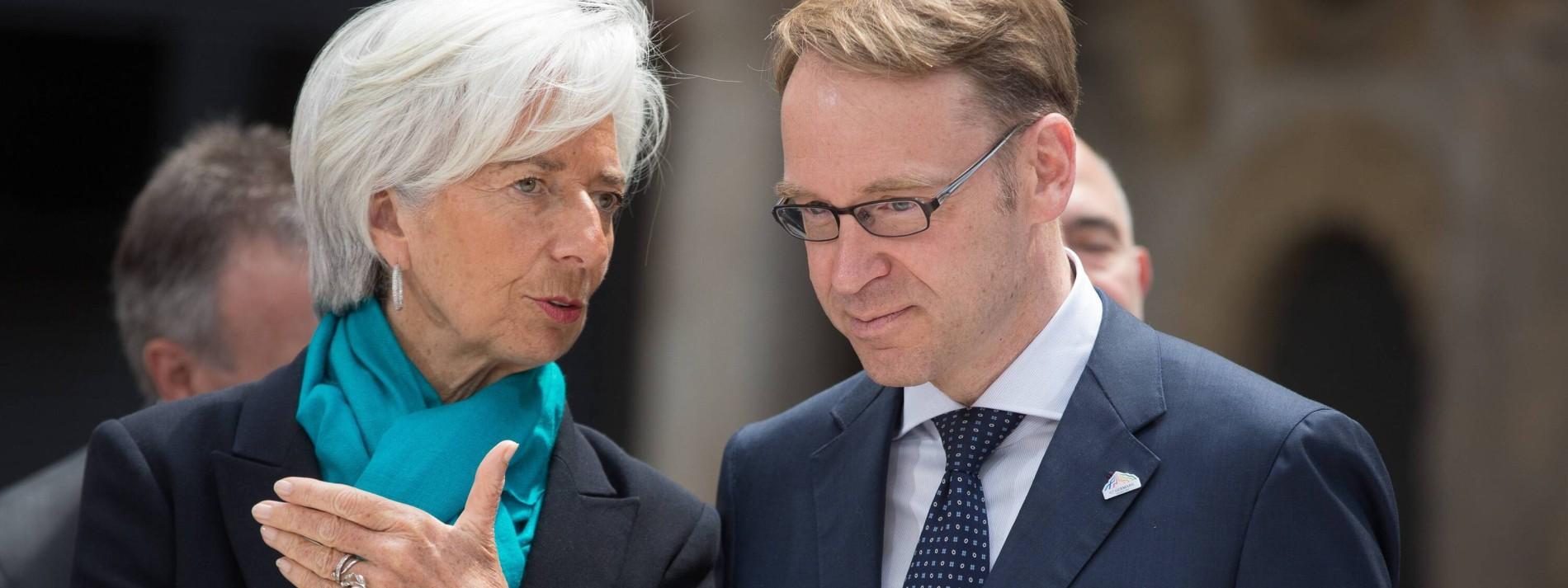 Lagarde und Merkel bedauern Weidmanns Rücktritt