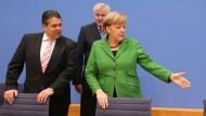 Wer sitzt wo: Am Sonntag wollen SPD und Union das Bundeskabinett bekanntgeben.