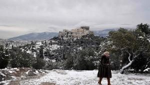 Die Akropolis unter der Zuckerdecke