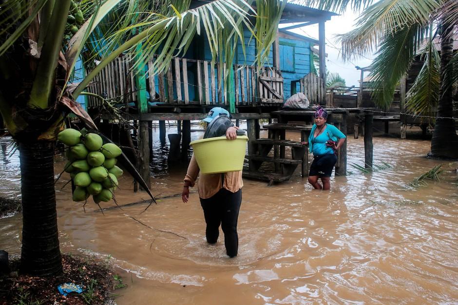 Überschwemmungen in Puerto Cabezas in Nicaragua