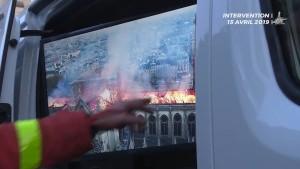So kämpfte die Pariser Feuerwehr um Notre-Dame