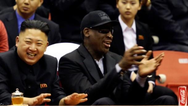 Kim Jong-un und Dennis Rodman