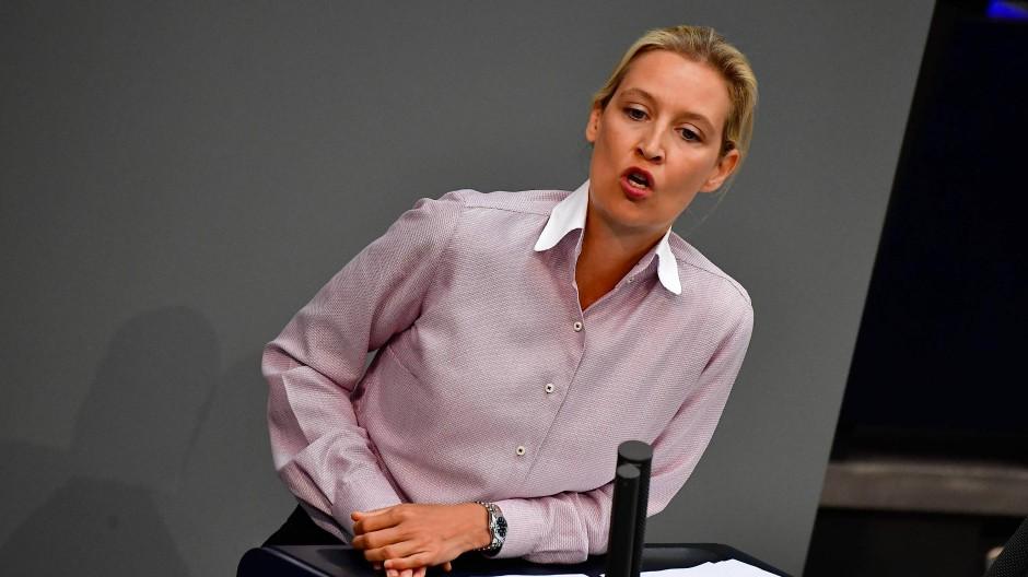 Hat sich durchgesetzt: AfD-Vorsitzende Alice Weidel (Aufnahme am 16. Mai im Bundestag)