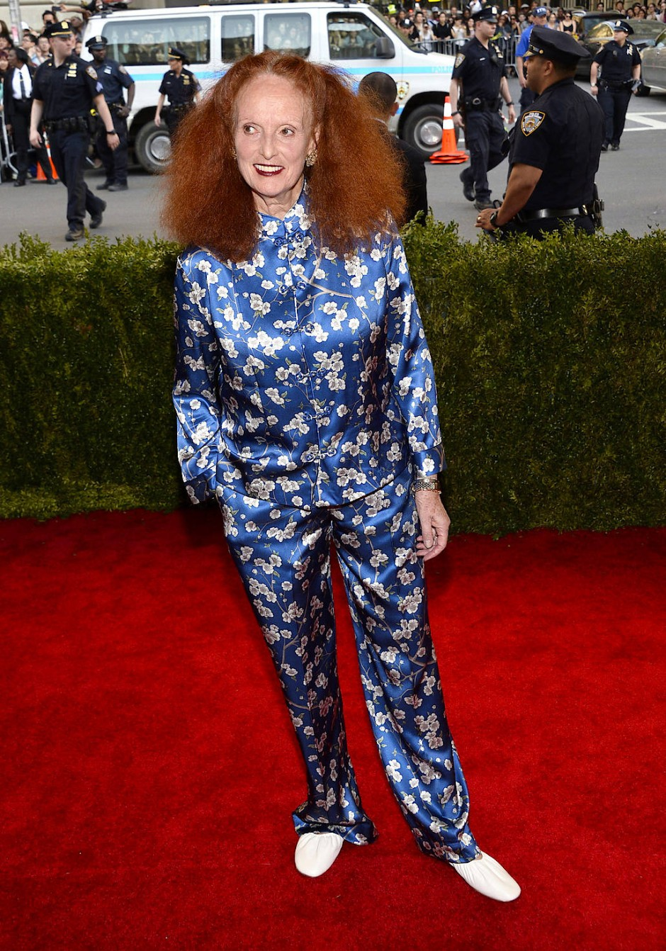 Grace Coddington kommt im Mai 2015 zur A. Wintour Costume Center Gala im New Yorker Metropolitan Museum of Art.