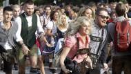 Es geht los: Auf dem Oktoberfest in München werden dieses Jahr rund sechs Millionen Menschen erwartet.