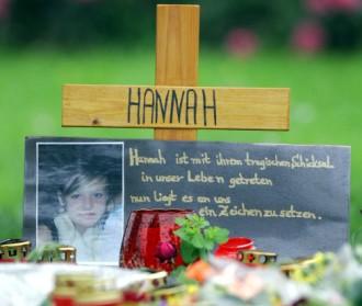 Nahe der Fundstelle der ermordeten Hannah