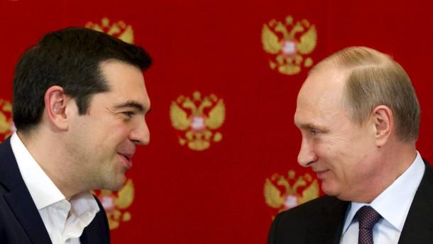 Putin bietet Griechenland Kredite für Großprojekte an