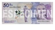Nobelpreisträger Gabriel García Márquez ziert 50.000-Peso-Schein