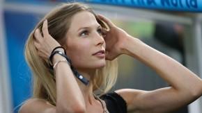 Ein Hingucker auf der Tribüne: Sarah Brandner begleitete Schweinsteiger während der Fußball-Großereignisse