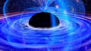 Rotierendes Schwarzes Loch spuckte Energie wieder aus
