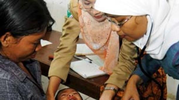 Mehrere Polio-Fälle in Indonesien