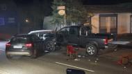 Den Falschen getroffen: der Fahrer des verdächtig vorkommenden Wagens wurde schwer verletzt.