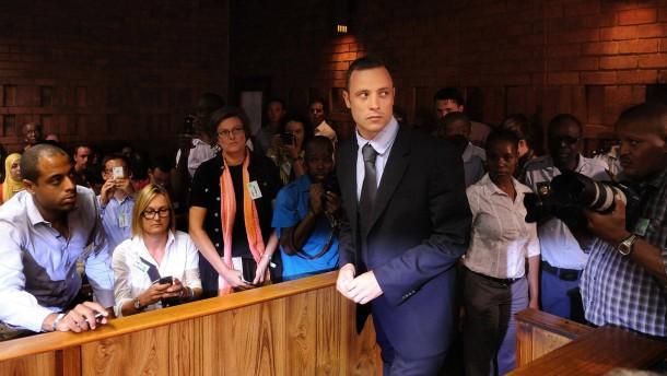 Oscar Pistorius bei der Anhörung am Freitag